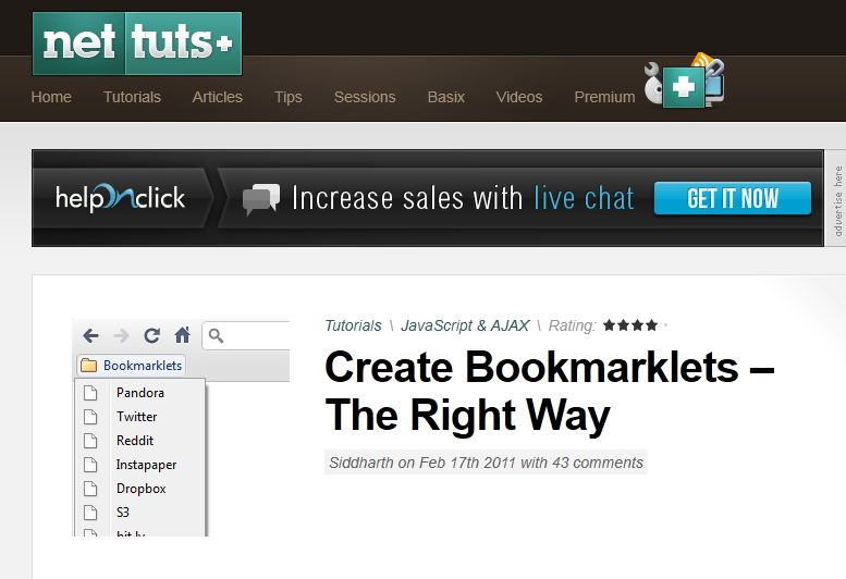 nettuts intro to bookmarklets